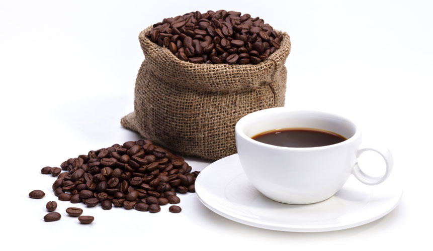 photo of coffee beans and coffee