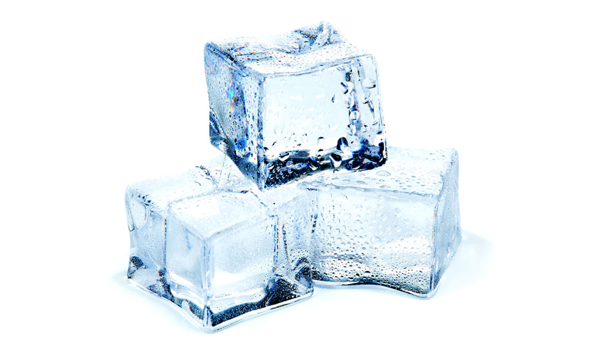 photo of three ice cubes