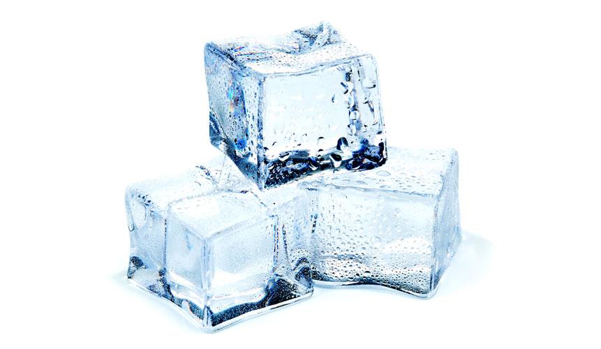 photo of three ice cubes