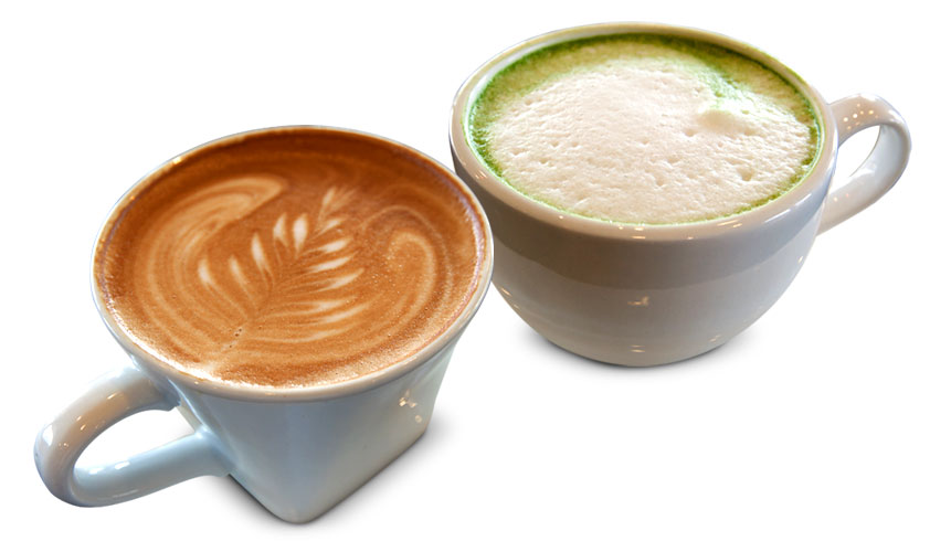 photo of two hot beverages