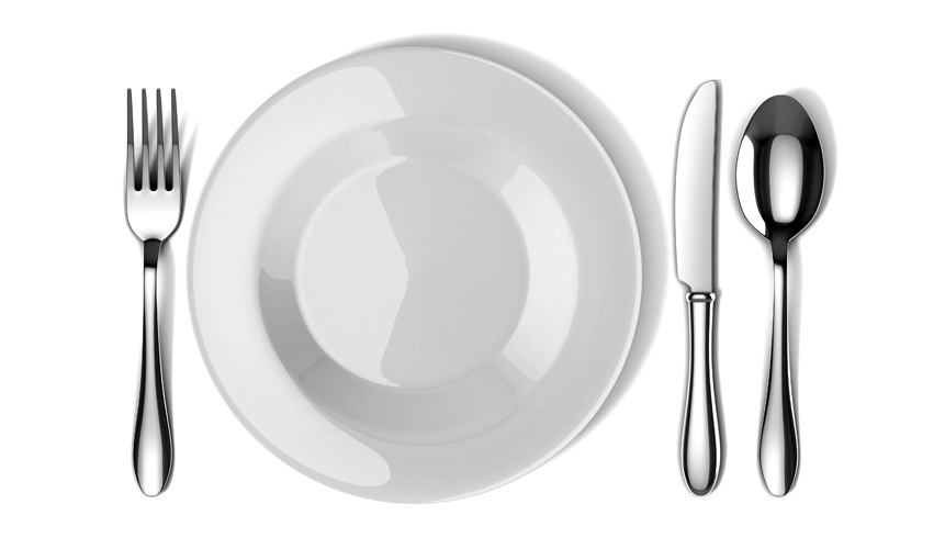 photo of plate and silverware